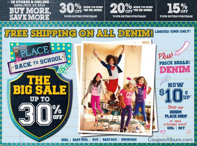 childrens place buy more save more