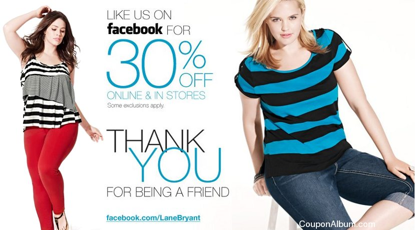 lane bryant facebook savings