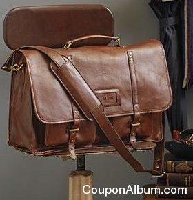 leather excursion messenger bag