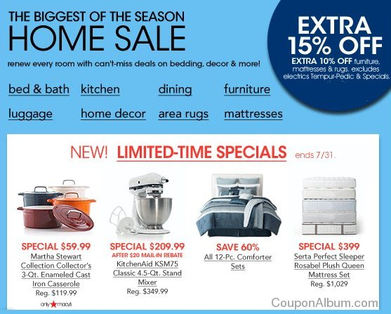 Macy S Biggest Home Sale More Online Shopping Blog
