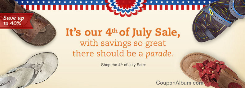 onlineshoes 4th of july sale
