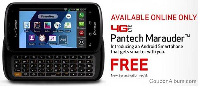 pantech marauder 4g smartphone