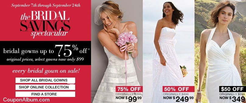 graphic about David's Bridal Printable Coupon identified as Davids Bridal Marriage ceremony Apparel excess! On-line Buying Site
