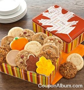 autumn gift tin fall assortment