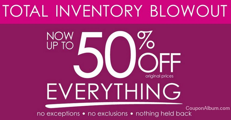 fashion bug total inventory blowout