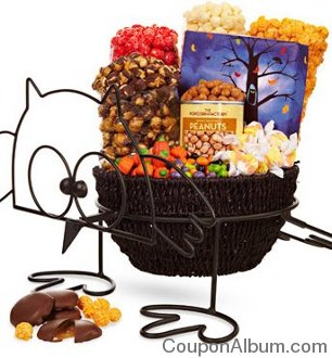 halloween basket with owl stand