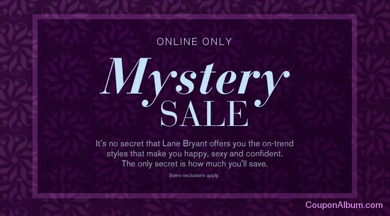 lane bryant mystery sale