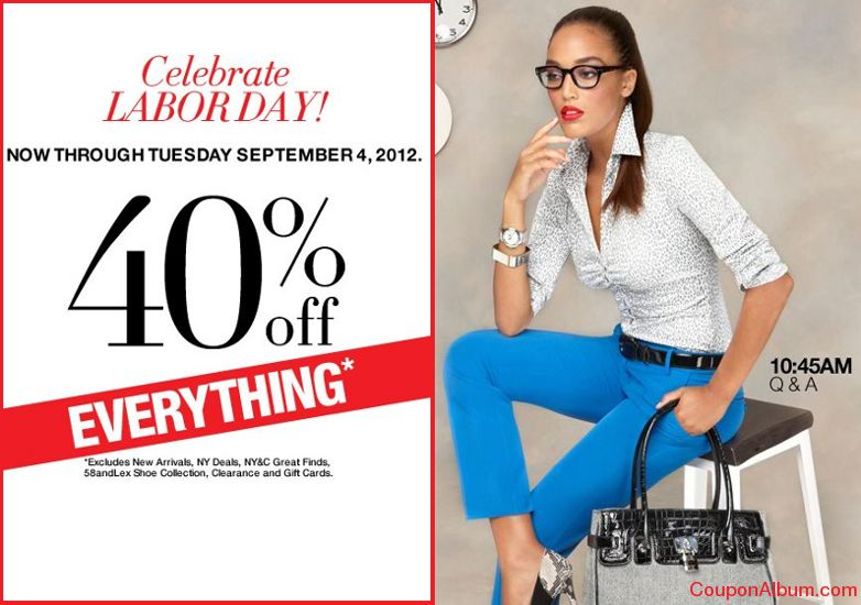 New York & Company is offering big savings on clothing, shoes and accessories this Labor Day weekend. Enjoy savings of up to $! Note that these coupons exclude NY Deals, doorbusters, clearance, and redlines, though you can also find great deals on clearance items from $6.