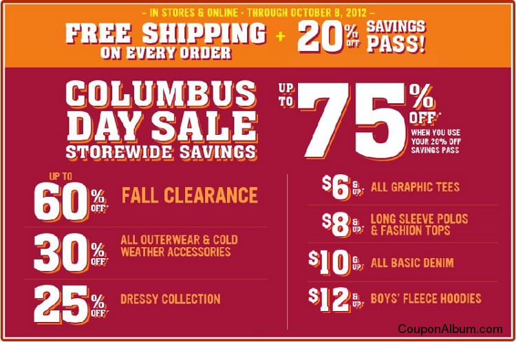 Children's Place Columbus Day sale