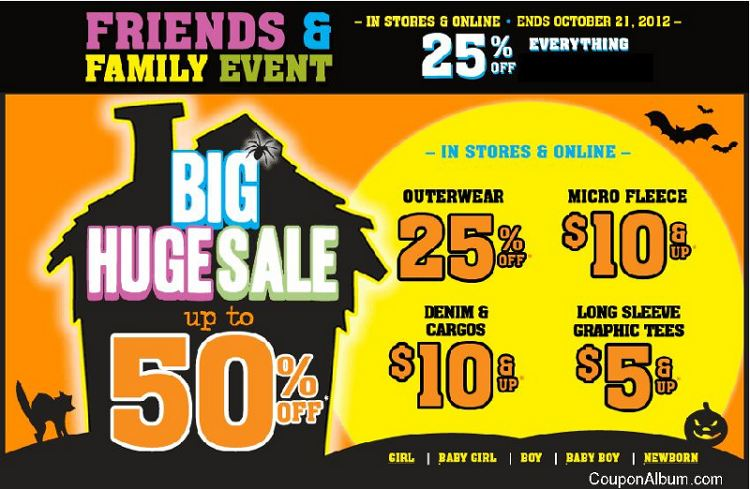 Children's Place Friends & Family Event