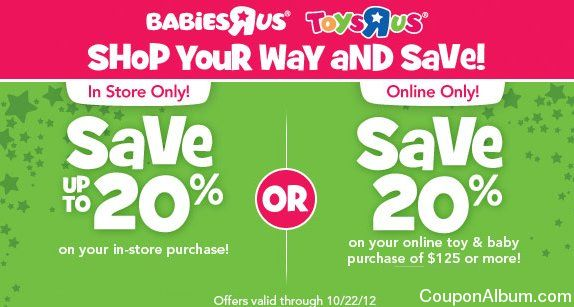Shop Your Way & Save With Toys'R' Us!