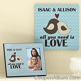 all you need is love canvas and frame