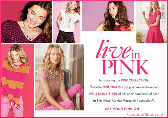 ann taylor loft pink ribbon collection
