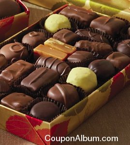 assorted chocolates in fall wrap