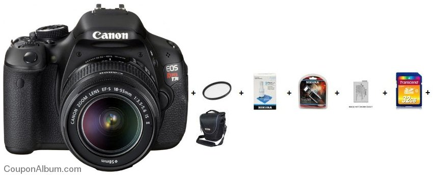 canon eos rebel t3i digital slr camera kit