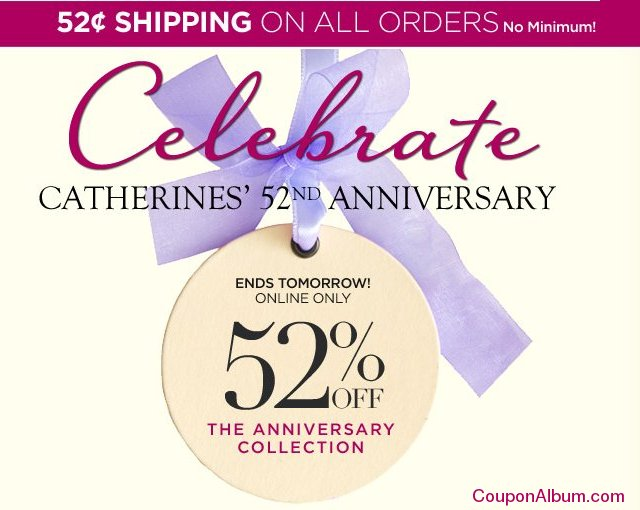 catherines 52nd anniversary sale