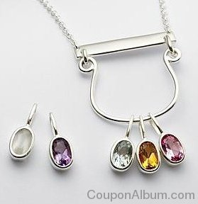family birthstone drop pendant