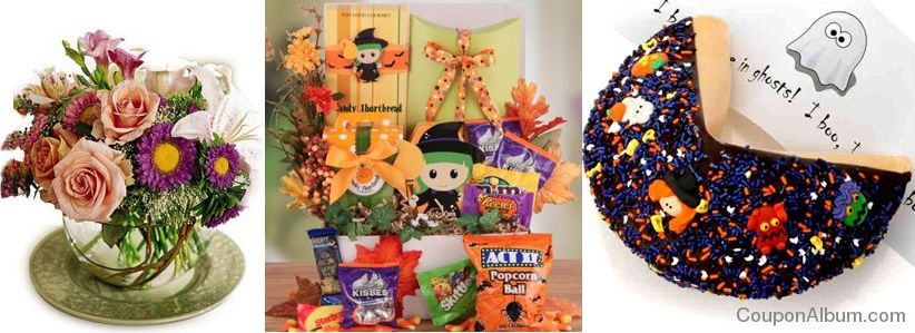 pickup flowers halloween gifts