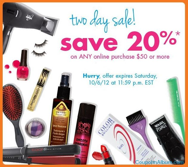 sally beauty 2 day sale