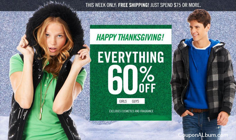 Aeropostale Happy Thanksgiving