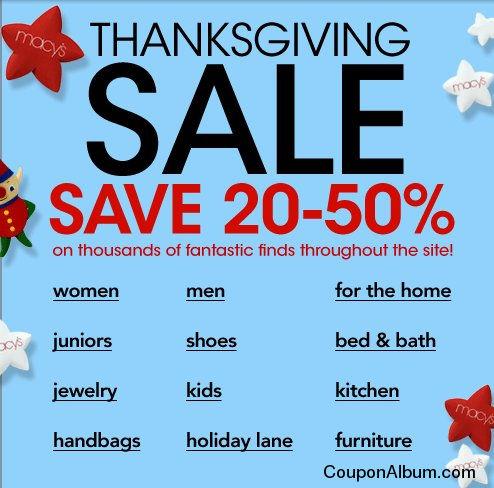 Macys Thanksgiving Sale