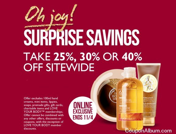 body shop surprise savings