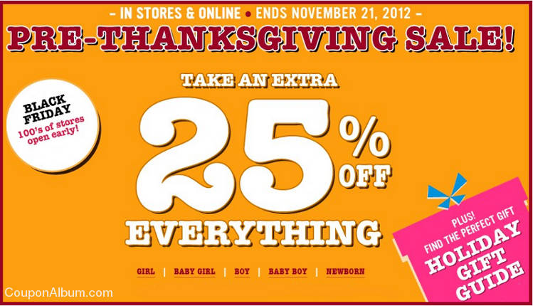 childrens place pre-thanksgiving sale