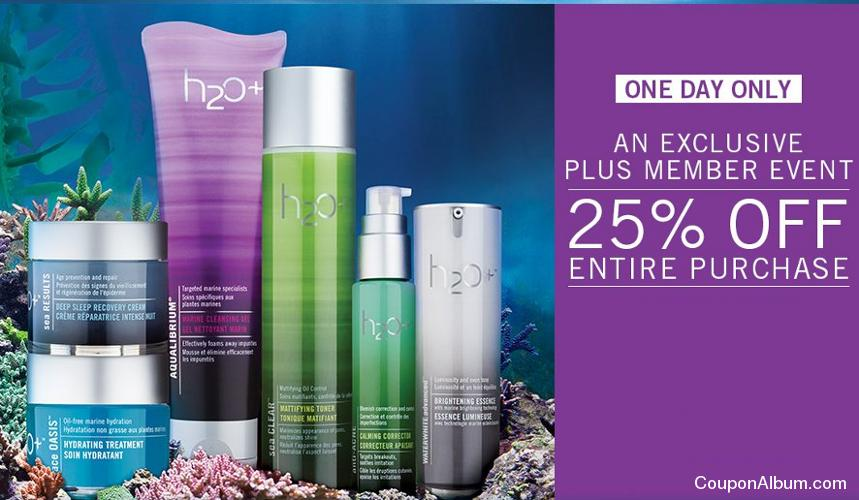 h2o plus an exclusive plus member event