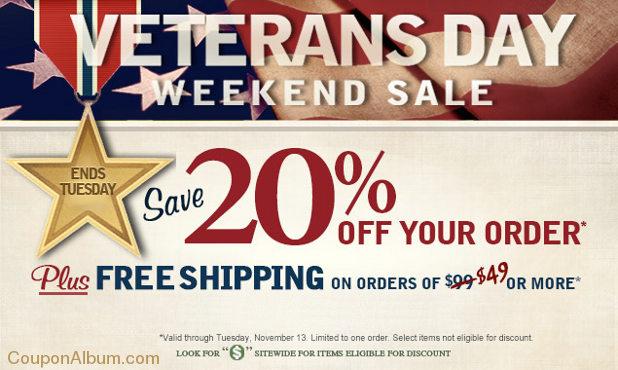 pfaltzgraff veterans day sale