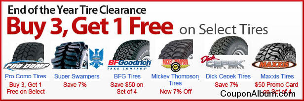4 Wheel Parts End of the Year Tire Clearance