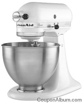 KitchenAid Classic 4.5-Quart 10-Speed White Stand Mixer