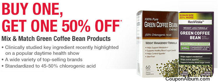 Mix & Match Green Coffee Bean Products