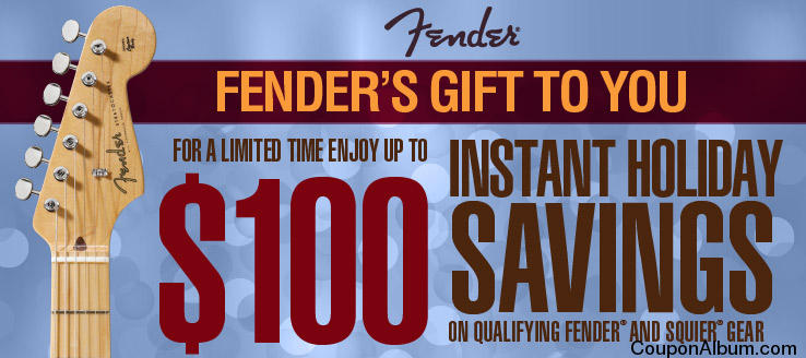 Musicians Friend Fender Holiday Savings