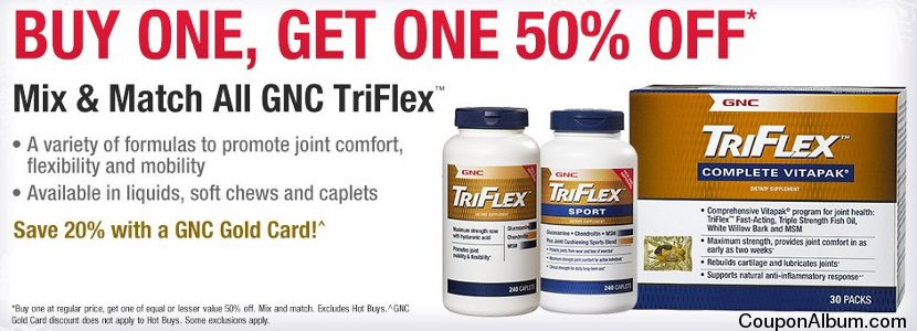 gnc bogo 50-off coupon