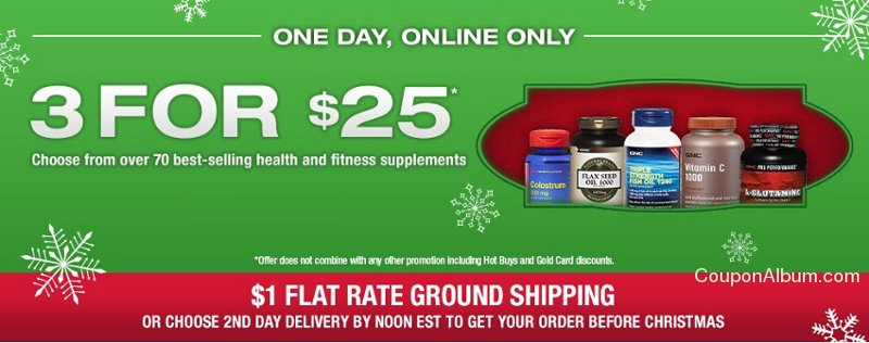 gnc holiday offer