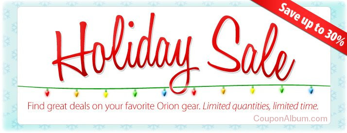 orion holiday sale