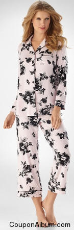 Embraceable Cool Nights Ladylike Support Pink PJ Top