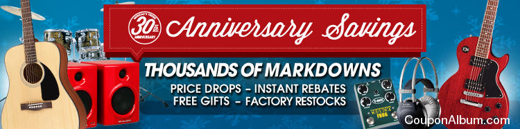 Musicians Friend 30th Anniversary Savings