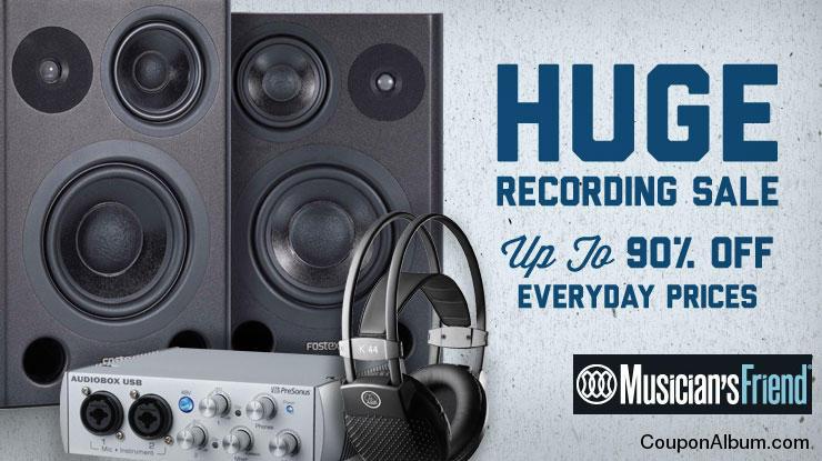 Musicians Friend Huge Recording Sale