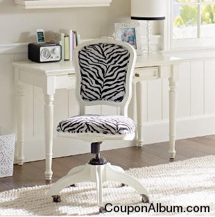 Ooh La La Zebra Swivel Chair