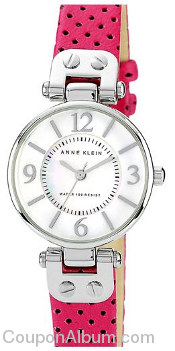anne klein colored leather strap watch