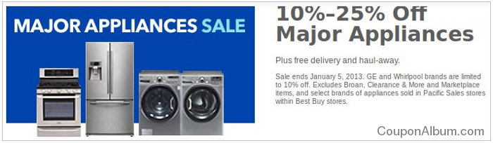 bestbuy major appliances coupon