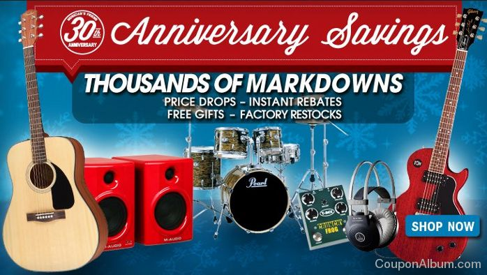 musicians friends anniversary sale