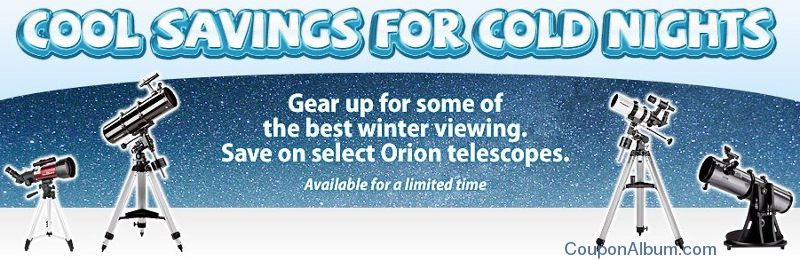orion telescope winter sale