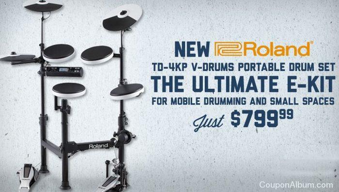 roland td-4kp v-drums portable kit