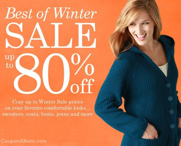 woman within winter sale