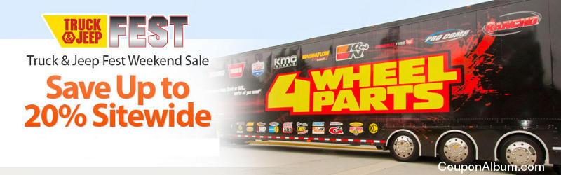 4 Wheel Parts Truck & Jeep Fest Weekend Sale