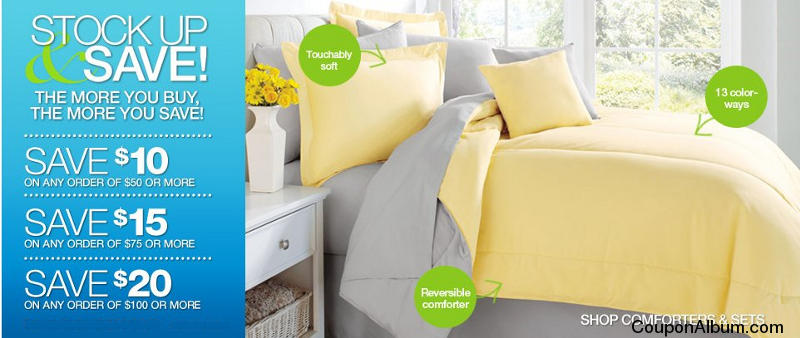 Brylane Home Stock up and Save