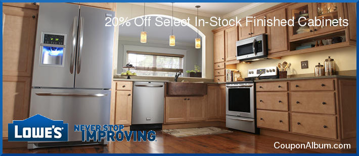 20% off Lowes kitchen cabinets! | Online Shopping Blog