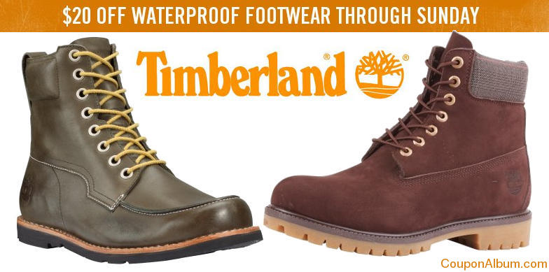 Timberlands coupon code